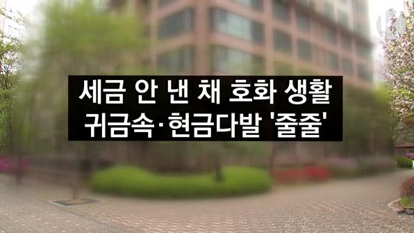 [라인뉴스] 세금 안 낸 채 호화 생활…귀금속·현금다발 '줄줄'
