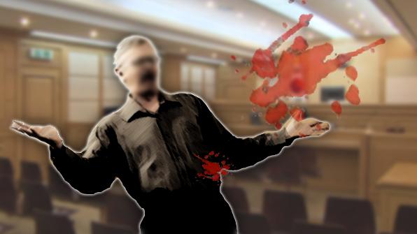 '판결 불만' 60대 남성, 법정에서 자해 소동