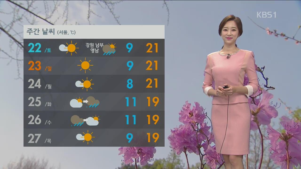 중부 황사 영향 미세먼지 '나쁨', 내일 강원·영남 비 조금