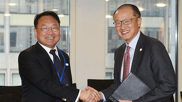 유일호 부총리, 세계은행·인도네시아와 경제협력 확대 논의