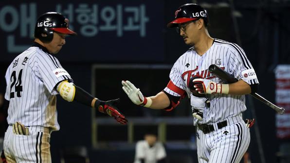 박용택, 결승 생일 자축포…LG, 기아와 첫 맞대결 승리