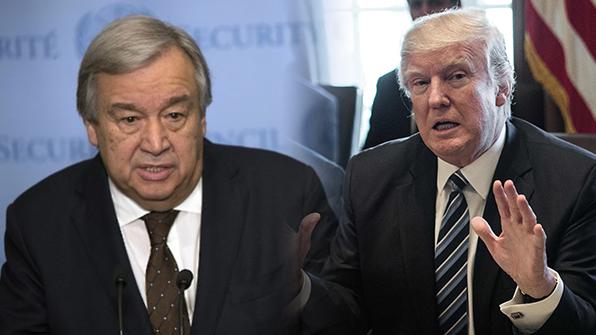 트럼프, 안토니우 구테흐스 유엔 총장과 첫 회동