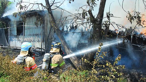 목공소로 쓰던 비닐하우스에서 불…3천만 원 피해