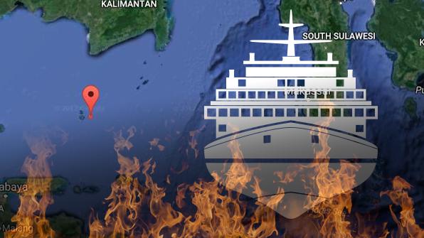 """인니 해상에서 여객선 화재…""""3명 사망·수십명 실종"""""""