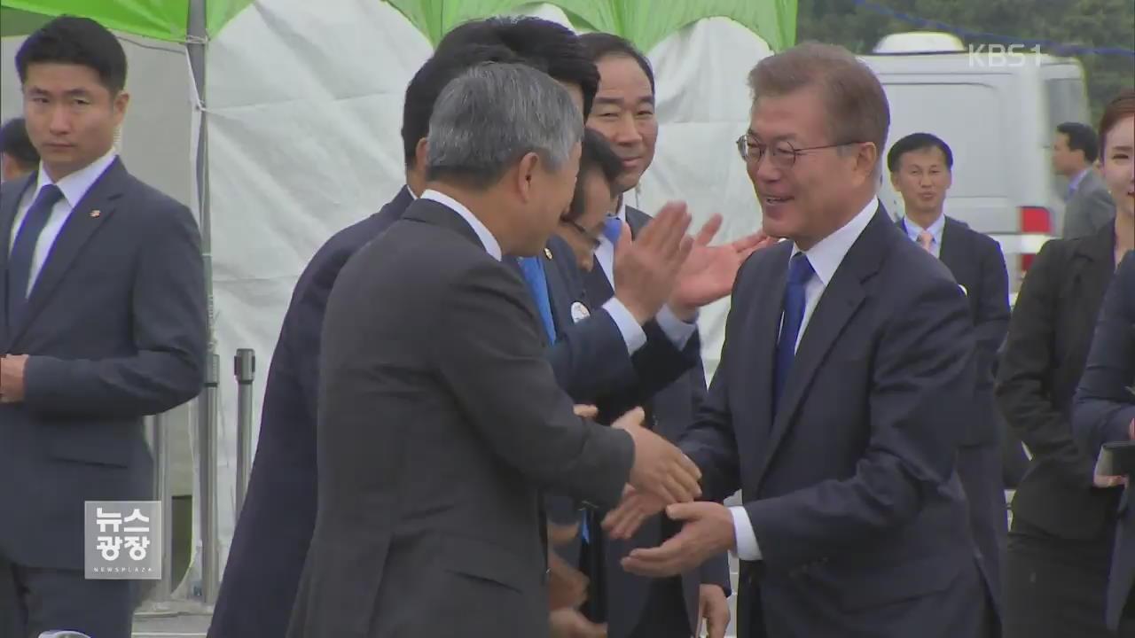"""文 대통령, 새만금 방문…""""해운·조선 살리기 총력"""""""
