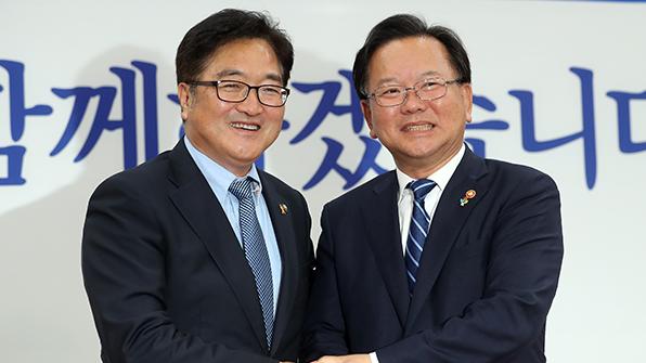 김부겸 장관, 국회 찾아 여야 지도부 예방…정부조직법 통과 호소