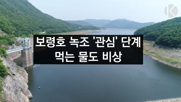 [라인뉴스] 보령호 녹조 '관심' 단계…먹는 물도 비상