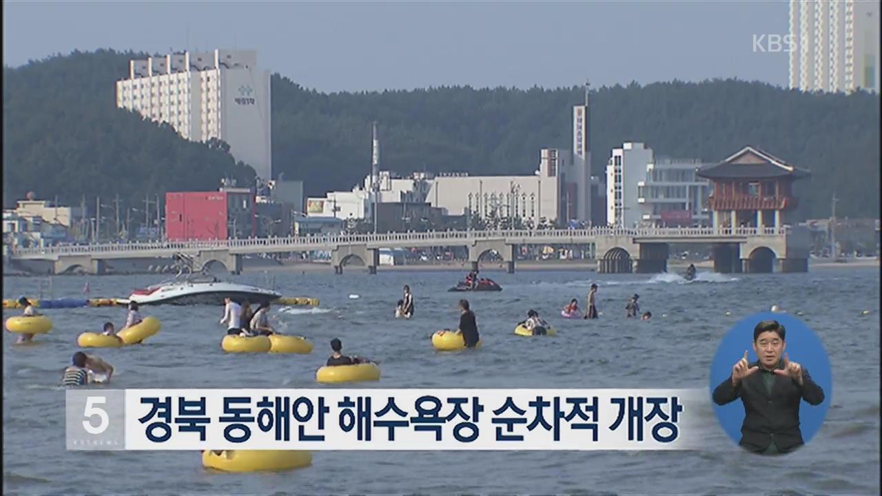 경북 동해안 해수욕장 순차적 개장