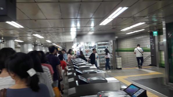 서울 지하철 2호선 을지로입구역 개찰구 고장…20여분 불편