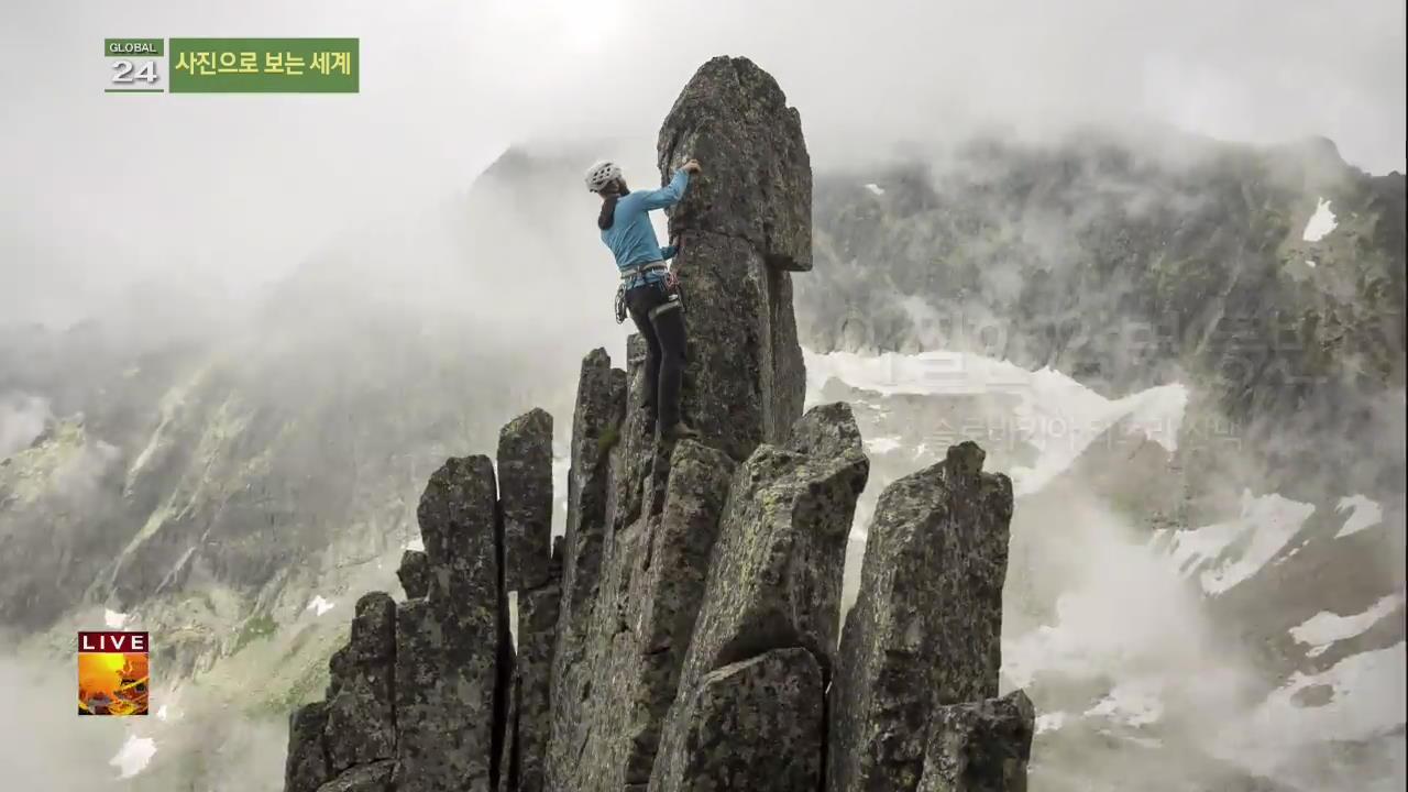 [글로벌24 사진] 아찔한 암벽 등반 외
