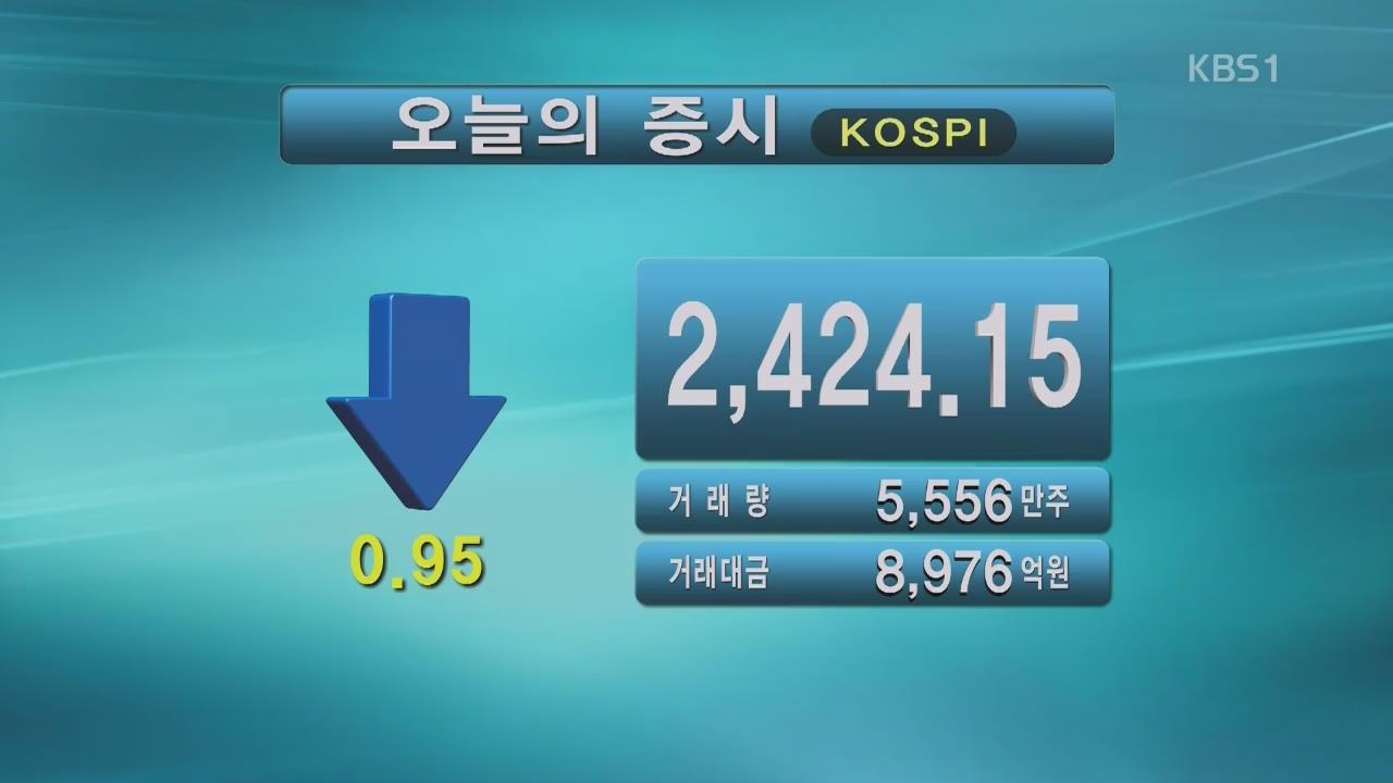 코스피 2,424.15 코스닥 662.54