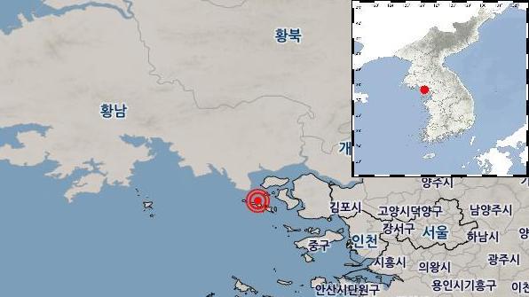 인천 강화 부근 해역에서 규모 2.7 지진
