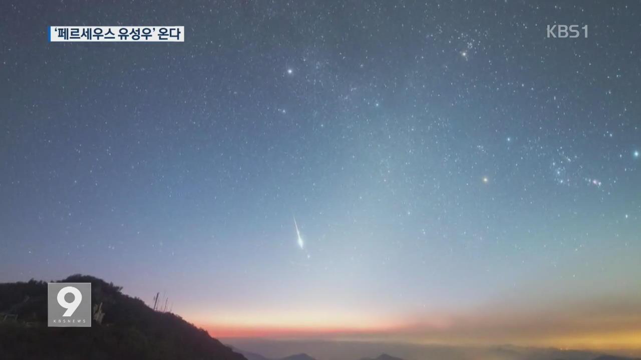 '한밤의 우주쇼' 오늘 밤 페르세우스 유성우 온다