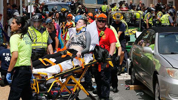 美백인우월주의 폭력 시위…차량돌진·헬리콥터 추락에 3명 사망