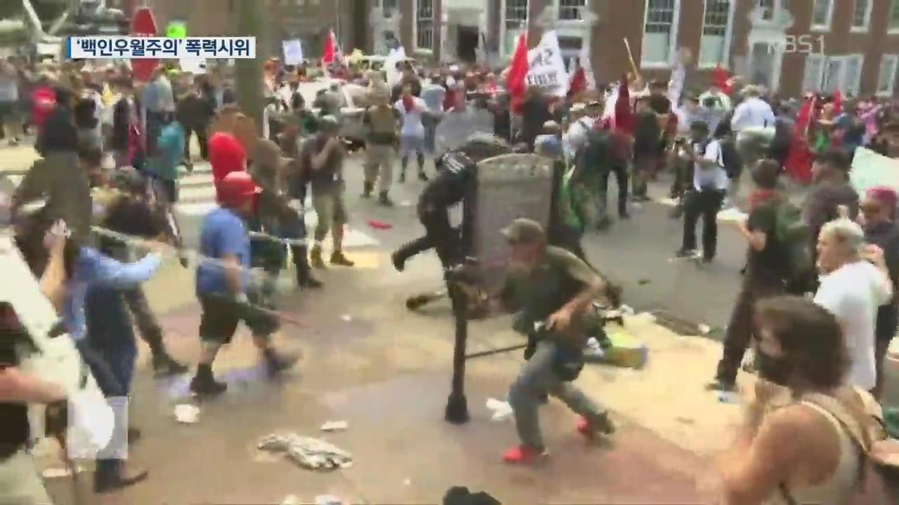 美 '백인 우월주의' 폭력 시위…3명 사망