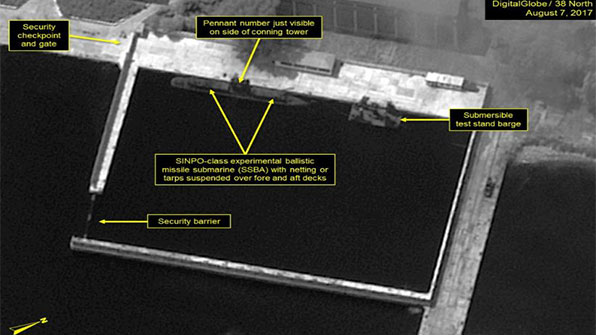 """38노스 """"북한 SLBM 시험 발사 준비 징후 포착"""""""
