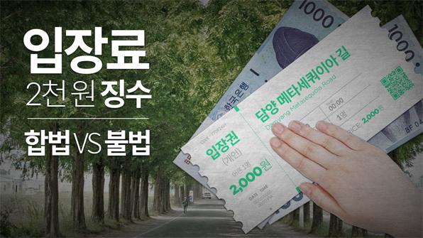 [크랩] 담양 '메타세콰이아길' 입장료의 진실은?
