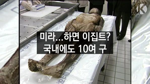 [라인뉴스] 국내 발견 미라 10여구…보존이 관건