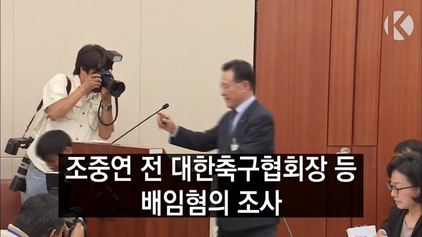 [라인뉴스] 조중연 전 대한축구협회장 등 '배임' 혐의 입건…당사자 반발