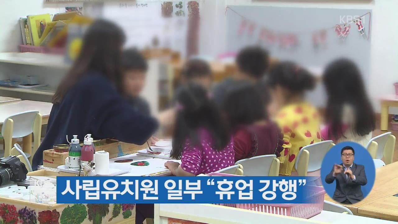 """사립유치원 일부 """"휴업 강행"""""""