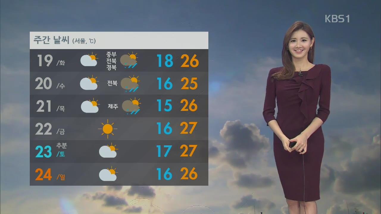 내일 전국 맑고 평년기온 보여