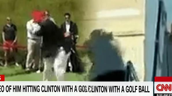 트럼프, '골프공으로 힐러리 명중' 합성영상 리트윗