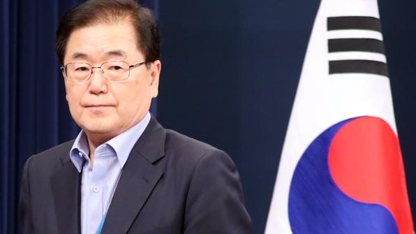 """정의용 """"文대통령, 2차 한국전쟁 이르지 않도록 막을 것"""""""