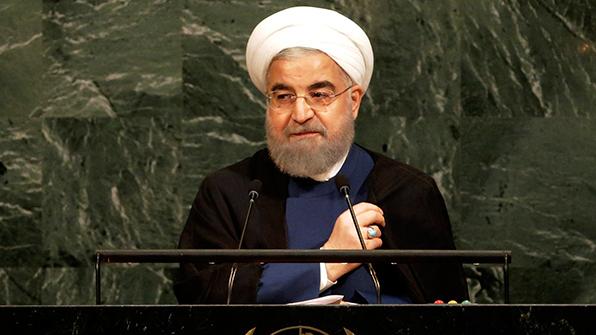 """이란 대통령 """"불량배 풋내기가 핵합의 파기시 단호대응"""""""