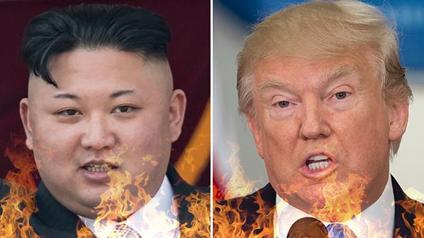 """미 언론, 트럼프에 """"김정은과 진흙탕싸움 말라"""" 자제론"""
