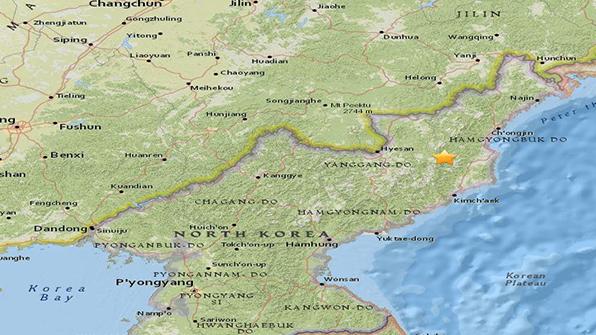 """USGS도 北지진 관측 """"길주 북서쪽 45㎞ 규모 3.5…진원깊이 5㎞"""""""