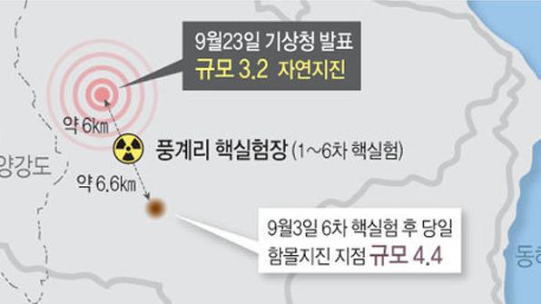 """중국지진관측기관 """"北 지진, 핵폭발 의한 것 아냐"""" 정정 발표"""