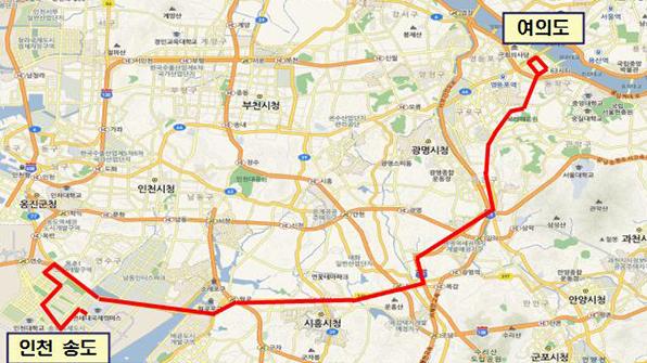 인천 송도-서울 여의도·잠실역 광역급행버스 다음달 운행