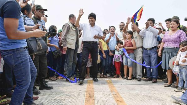 한국 건설사가 만든 1천440m 볼리비아 최장 다리 개통