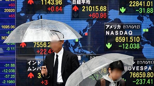 日증시 9일째 상승…닛케이, 21년 만에 21,000 돌파
