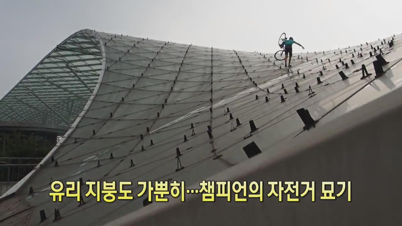 [디지털 광장] 유리 지붕도 가뿐히…챔피언의 자전거 묘기