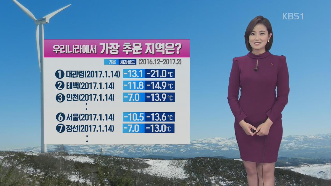 [날씨와 생활정보] 맹추위에 기온 뚝…'체감온도' 왜 다를까?