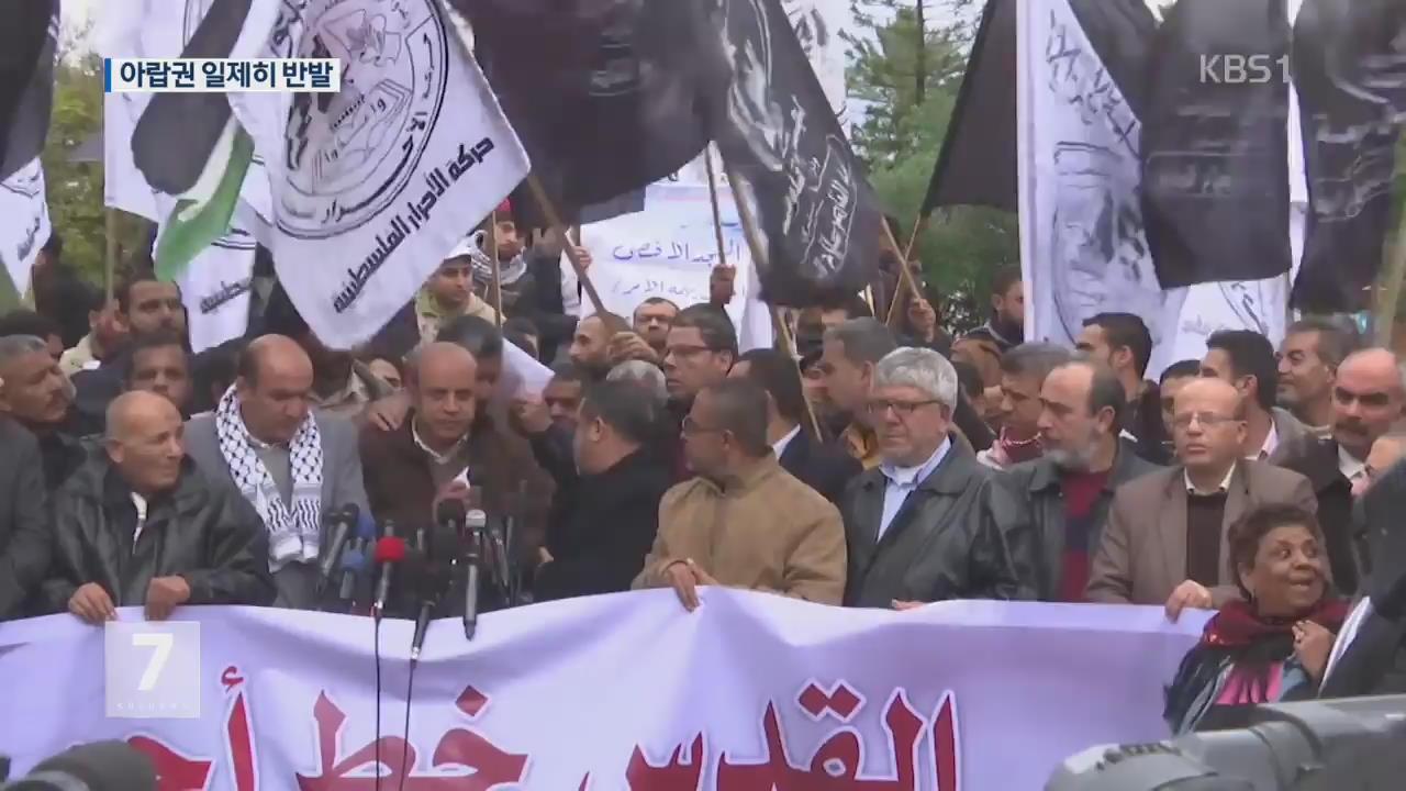 '美 예루살렘 인정'에 아랍권 격분…극단주의 기승 우려