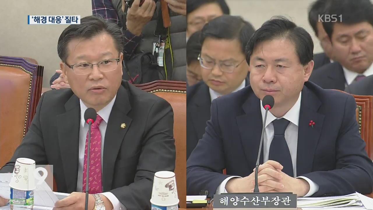 """여야, 해경 대응 질타…해수부 """"낚시 전용선 제도 검토"""""""