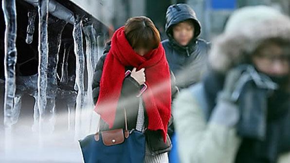 강원 한파주의보·전국 '꽁꽁'…서해·동해 '눈발'