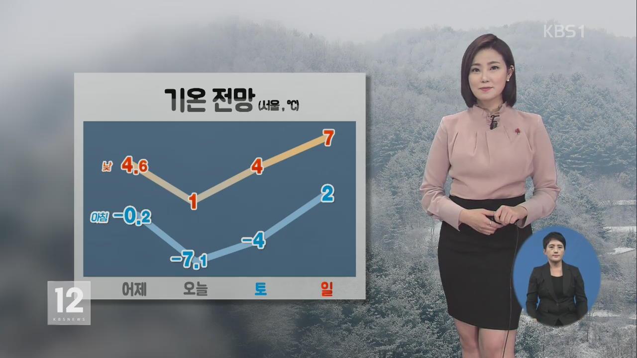 전국 '매서운 추위'…호남 서해안 눈