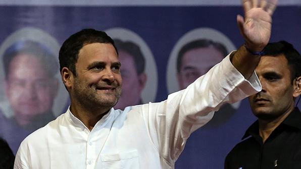 네루 증손자 라훌 간디, 인도 제1야당 총재 지명