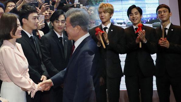 [K스타] 송혜교에 엑소까지…中국빈방문에 한류스타 총출동