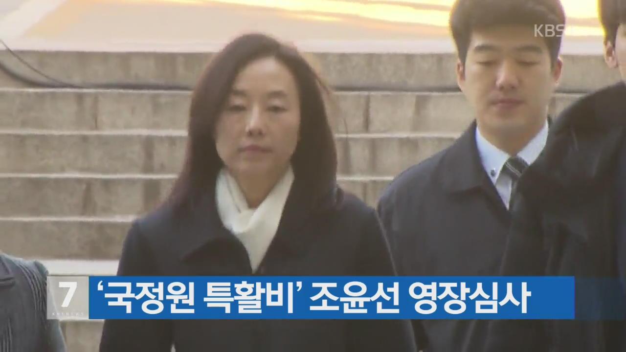 '국정원 특활비' 조윤선 영장심사