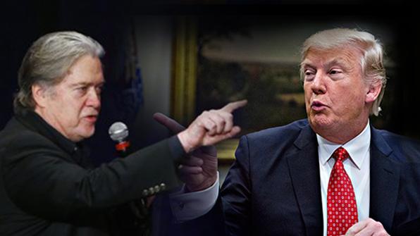 """트럼프, '반역론' 제기한 옛 오른팔 배넌에 """"미쳤다"""""""