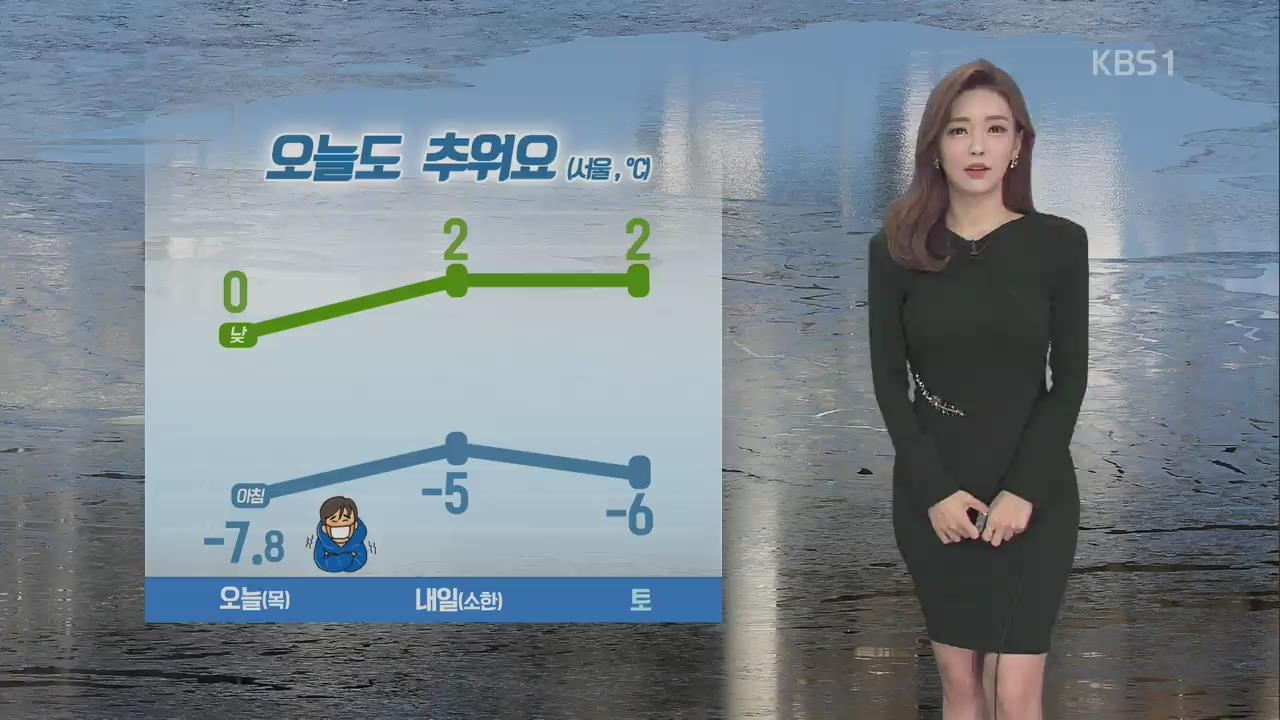 오늘 출근길도 '강추위'…서울 영하 7.8도