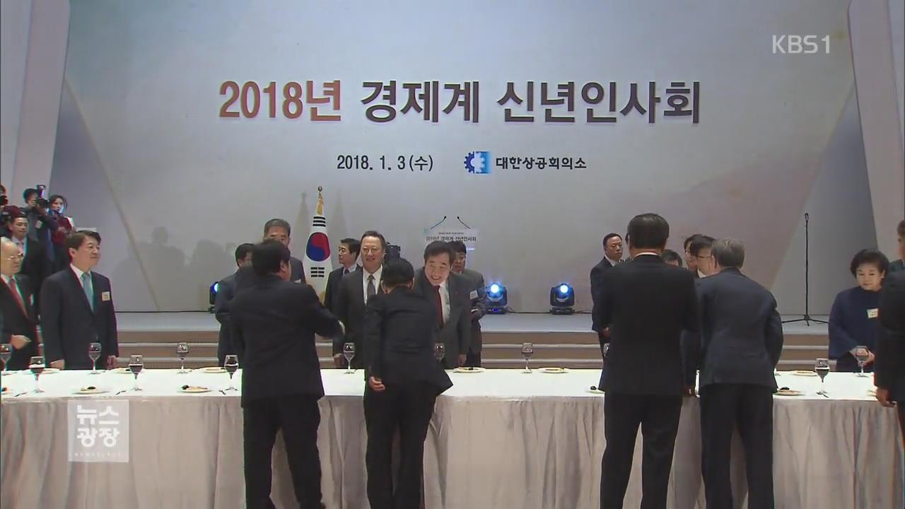"""경제계 신년인사회…""""제도·정책 개선해야"""""""