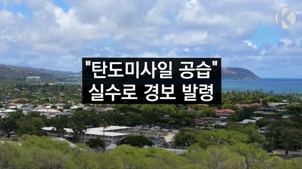 """[라인뉴스] """"탄도미사일 위협"""" 경보 발령 실수…하와이 '발칵'"""