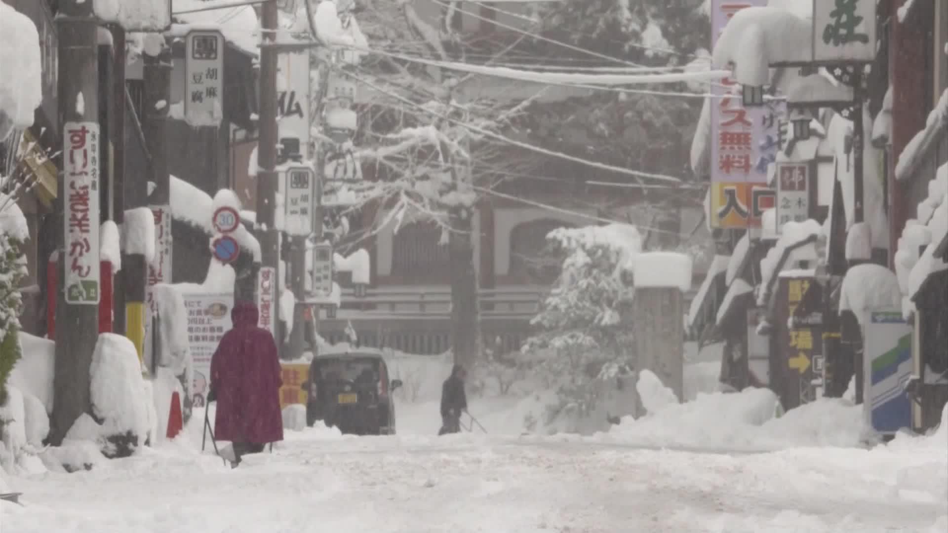 일본, 최근 기록적 폭설로 최소 7명 사망…대부분 노인들 참변