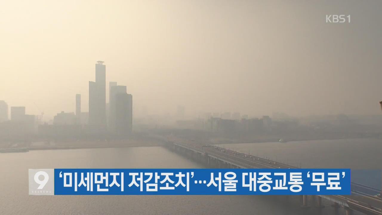 '미세먼지 저감조치'…서울 대중교통 '무료'