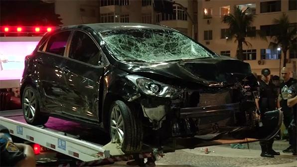 유명 관광지 브라질 리우 해변서 승용차 돌진 사고…17명 사상